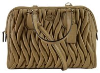Coach Gathered Leather Mini Nolita Cross Body Bag