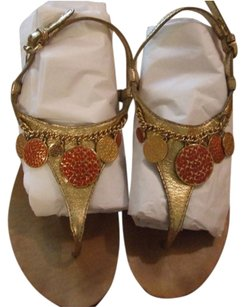 Coach Gold and Multi Sandals