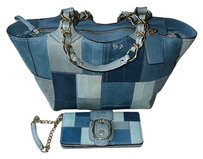 Coach Hermes Channel Gucci Dooney Louis Vuitton Vintage Rare Blues Clutch
