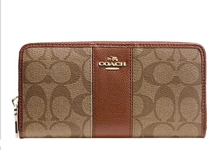 Coach All-around zipped wallet vkFrG