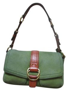 Coach Leather Pockets Shoulder Bag