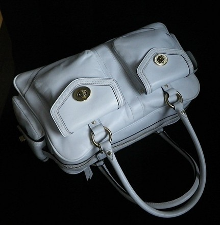 Coach Louis Vuitton Dooney Bourke Gucci Channel Rare Satchel in White