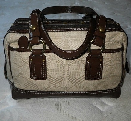 Coach Louis Vuitton Dooney Bourke Gucci Channel Rare Vintage Tote in Canvas/Choco Brown