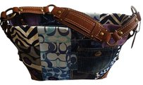 Coach Louis Vuitton Dooney Bourke Tote in Denim, Tobacco Brown