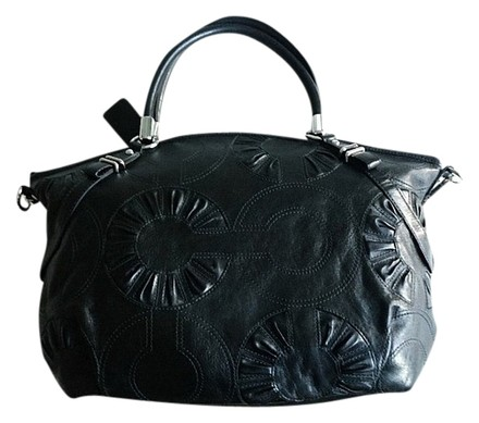 Preload https://item3.tradesy.com/images/coach-madison-embellished-op-art-c-lg-sophia-purse-satchel-sleek-black-leather-tote-807022-0-0.jpg?width=440&height=440