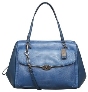 Coach Madison Embossed Lizard Satchel