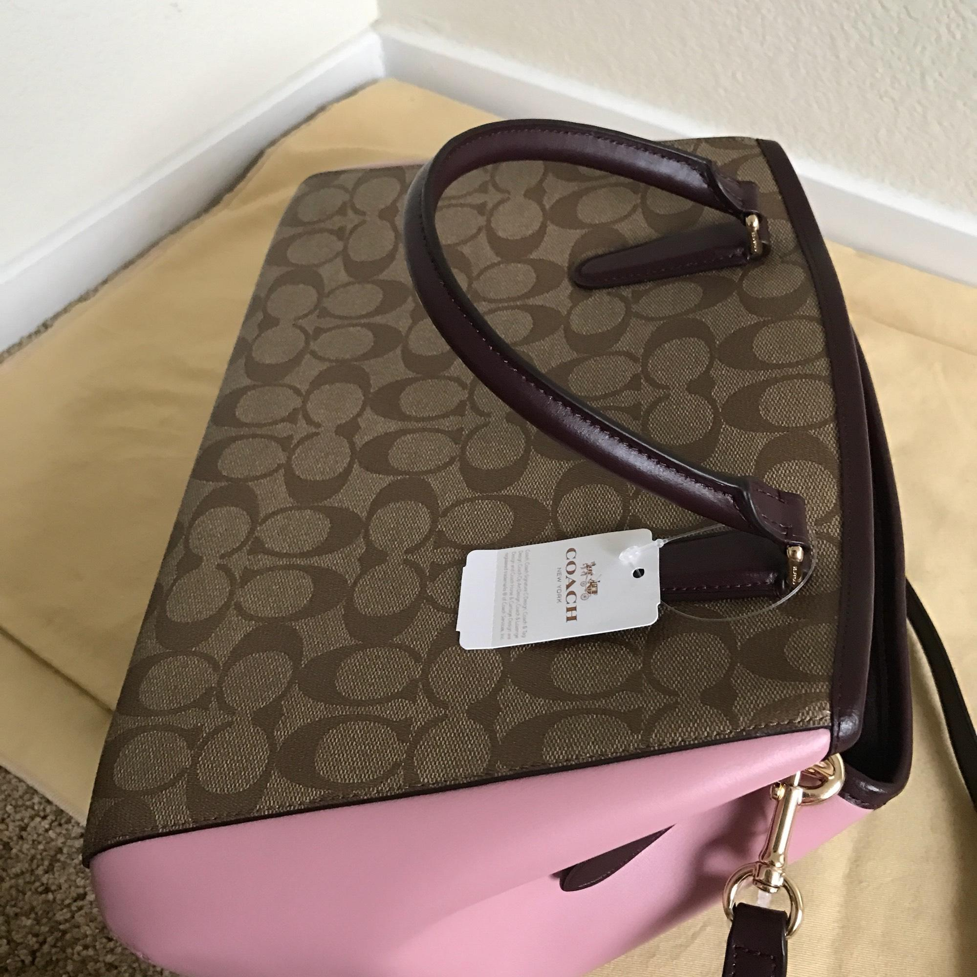 3db7eb20ab7a ... cheap coach margot small carryall in colorblock signature f57492  multicolor coated canvas satchel tradesy 5fd94 f738f