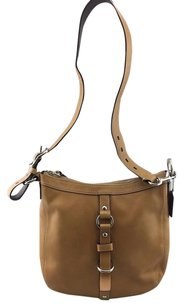 Coach Chelsea Camel Leather Messenger Cross Body Bag