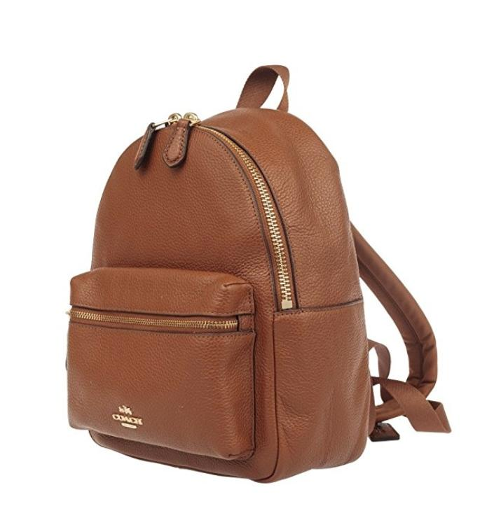 Coach F38263 Charlie Mini Tan Leather Backpack on Sale, 42% Off ...