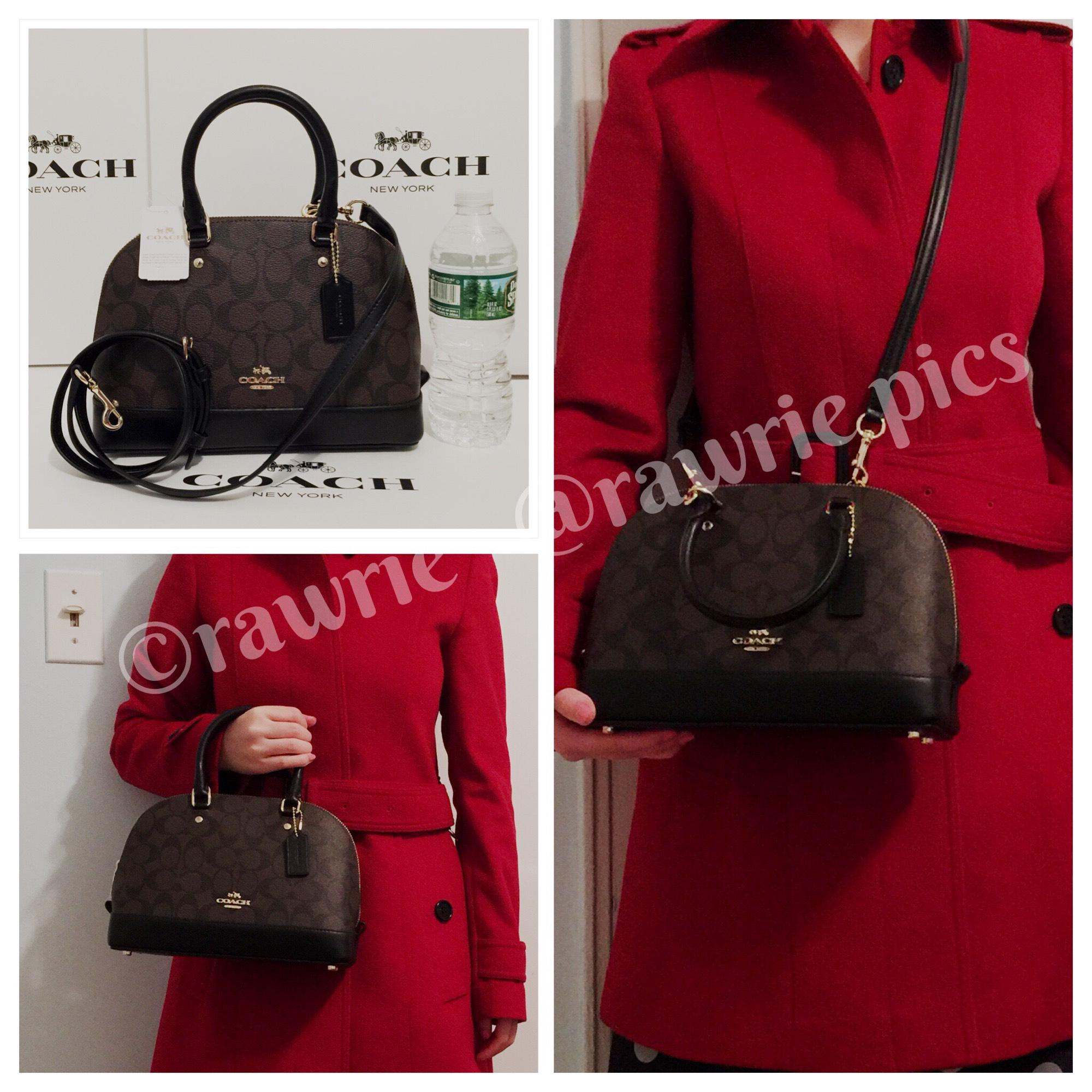 1ff93904e0595 ... new style coach sierra signature brown mini domed satchel and matching  f95c6 ee802