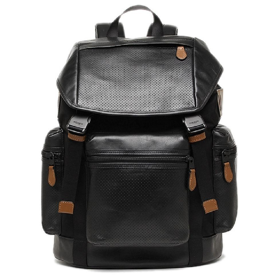 coach boots outlet h5rn  Coach New Dark Saddle Saddle Brown Backpack