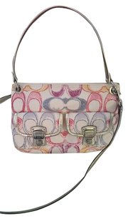 Coach Pastel Fabric Sale Cross Body Bag