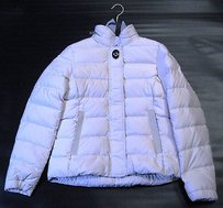 Coach 82206 Rby Down Coat With Hidden Hoodie Ivory Jacket