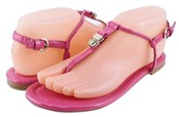 Coach Rosati Patent Leather Womens Designer Flats Pink Sandals