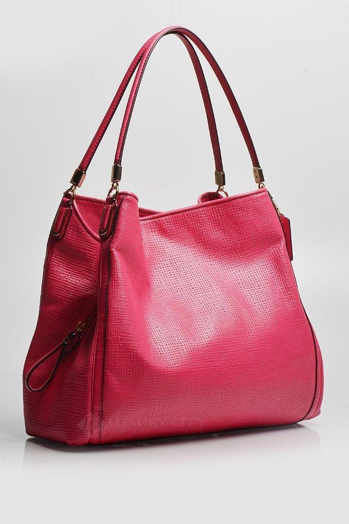 ... coupon code coach phoebe ruby madison embossed small 30089 pink leather  shoulder 5b97a e4c20 8ed014f49e