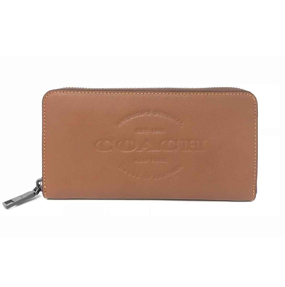 fbbed7ab04b8 ... compact id leather wallet dark saddle f74991 96315 e8729  get coach  coach f24648 mens accordion natural leather saddle wallet 8dcb8 a4e0a