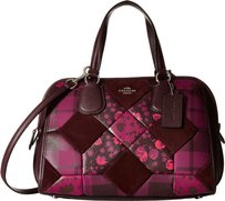 Coach 36557 Patchwork Nolita Satchel in Burgundy (cycleman multi)