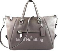 Coach Pebbled Primrose Grey Satchel in Gray