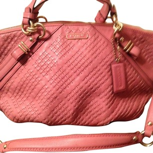 Coach Satchel in Salmon Pink