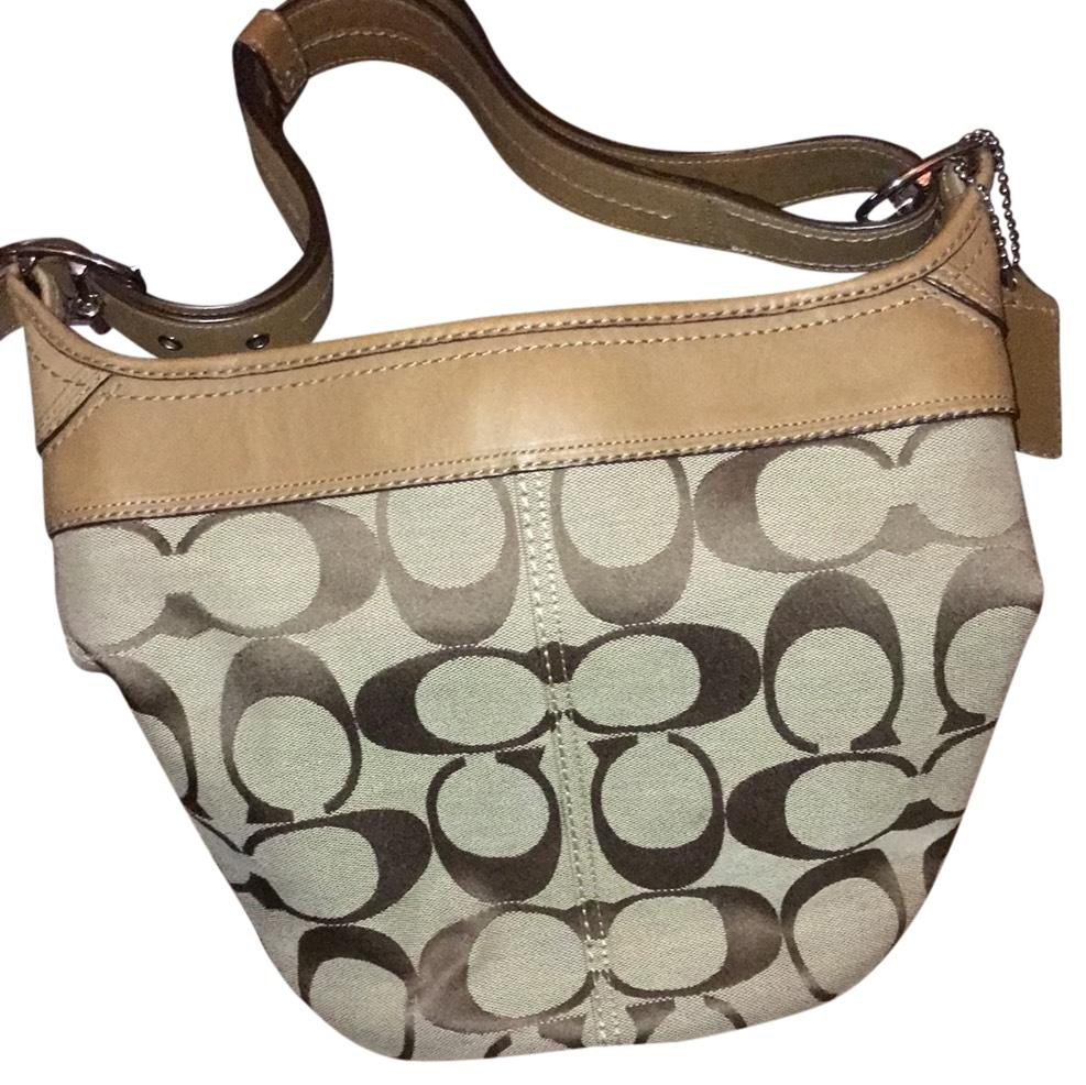 c32a61f5529 ... where to buy coach signature bucket tan cloth and leather hobo bag  tradesy 1571c 3b6df