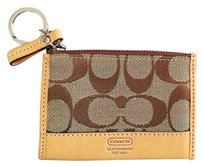 Coach Skinny Signature Jacquard Keyring Card Holder