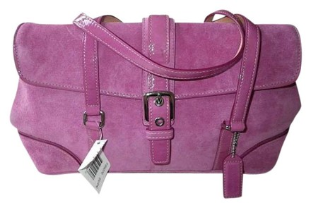 Preload https://item3.tradesy.com/images/coach-sm-expandable-buckled-flap-pink-suede-patent-leather-tote-396272-0-0.jpg?width=440&height=440