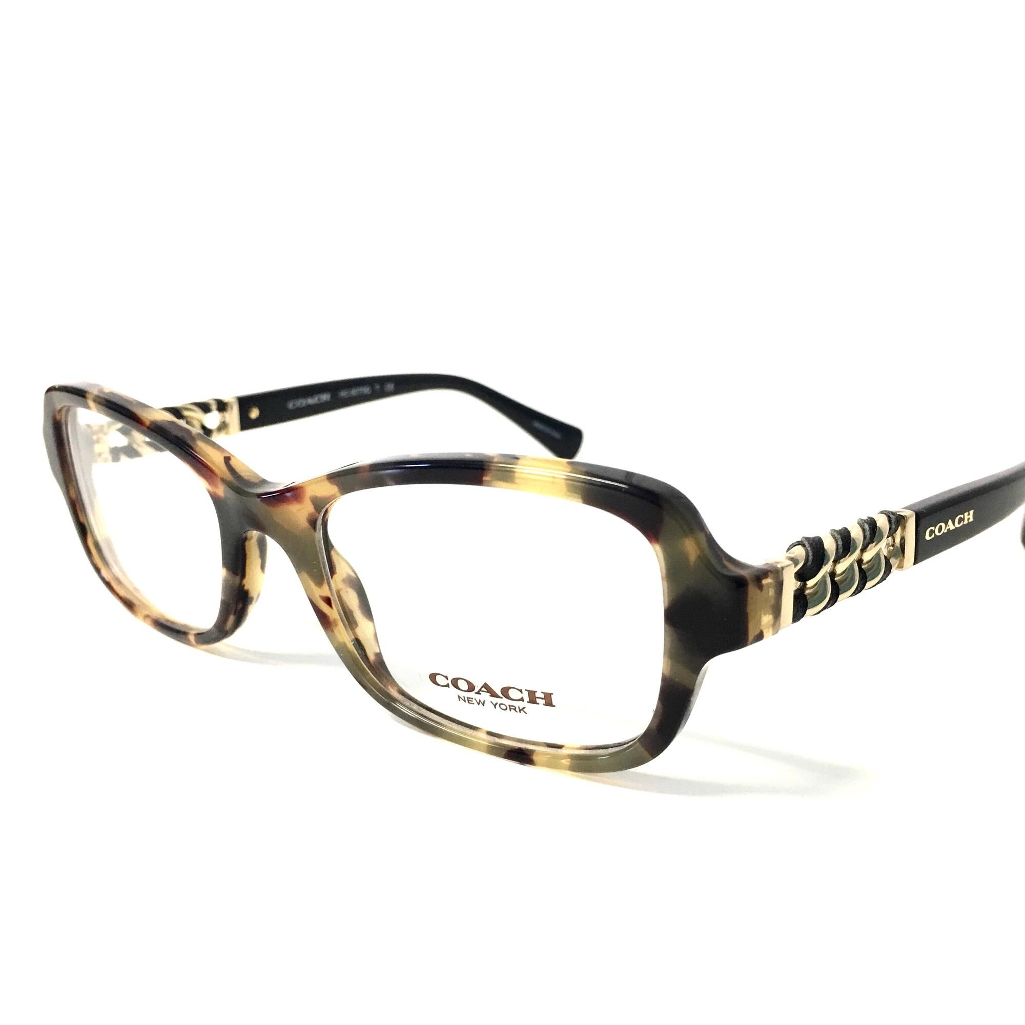 15cda874618 ... new zealand coach tortoise gold coach womens eyeglasses with gold chain  accent 14634 c2ede