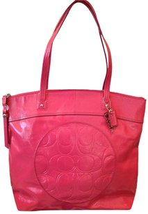 Coach Vintage Tote in Pink Leather
