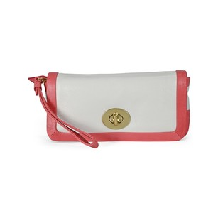 Coach White and Red Leather Clutch Wallet 42641BWTCO