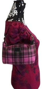 Coach Wristlet in Pink and Black Plaid