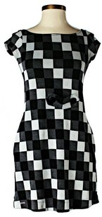 Colcci short dress Black/White/Grey Checkered Shift on Tradesy