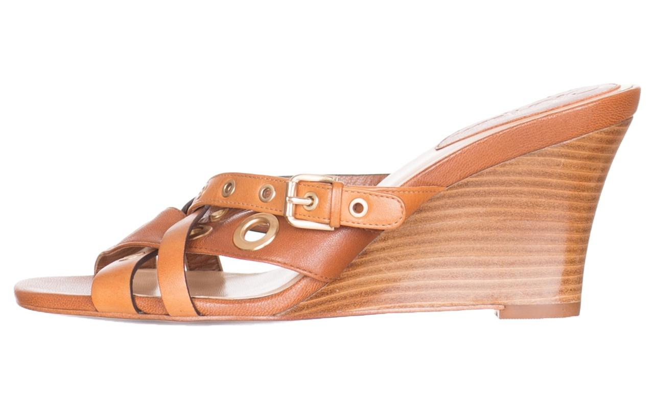 Cole Haan Brown Women's Leather Whitney Wedge Sandals Mules/Slides Size US 7 Regular (M, B)