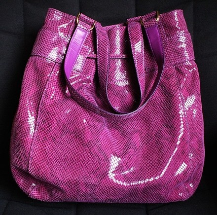 Cole Haan Coach Hermes Channel Gucci Vintage Tote in Plum, Purple