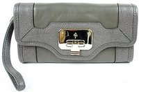 Cole Haan Cole Haan Vintage Valise Ii Dark Gull Gray Leather Isabelle Clutch Wallet