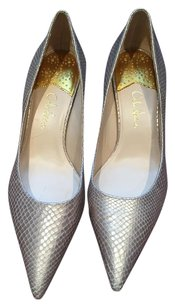 Cole Haan Embossed Leather metallic gold Pumps