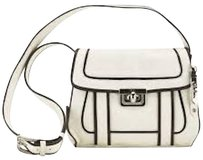 Cole Haan Leather Ivory Piping Brown New With Cross Body Bag