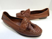 Cole Haan Resort Italy British Leather Woven Loafers B Brown Flats