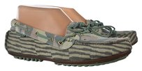 Cole Haan Womens Green Printed Loafers Slip On Casual Multi-Color Flats