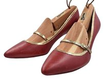 Cole Haan Womens Color Block Mary Jane Leather Pointed Toe Heels Red Pumps