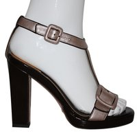 Cole Haan Platform Silver High Heels On Trend Moira Pewter Sandals