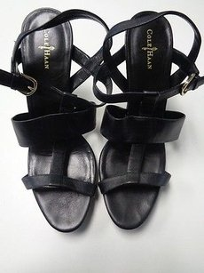 Cole Haan High Sandal Heels W Thick Straps Synthetic B3237 Black Pumps