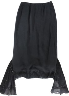 Collette Dinnigan Black Silk Skirt
