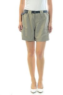Columbia Columbia Womans Beigekhaki Outdoor Belted Athletic Mid Length Shorts
