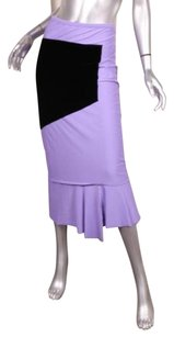 COMME des GARONS Womens Velvet Knit Patchwork Straight Skirt Purple
