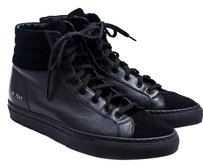 Common Projects Suede Leather High Top Black Athletic