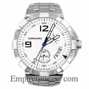 Concord Concord Saratoga Date Stainless Steel Quartz Mens Watch