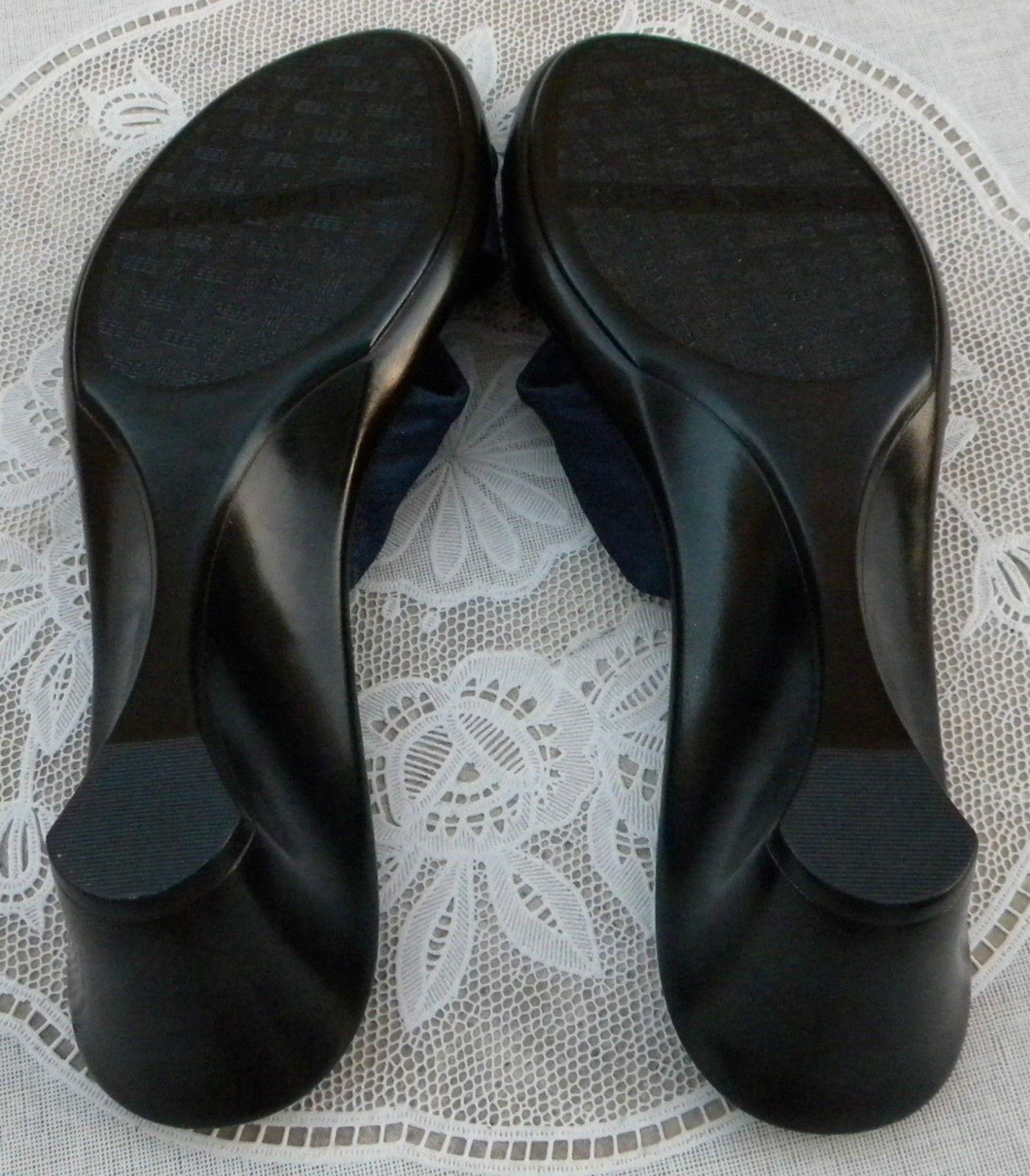 Connie New Italian Blue With Buckle 10 Italy Navy Blue Wedges