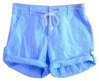 Coral Bay Cuffed Shorts Turquoise Pinstripe