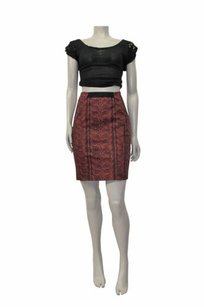 Corey Lynn Calter By Janelle Seamed Pencil Mini Skirt Multi-Color