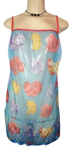 Cosabella Cosabella Blue Floral Sheer Mesh Chemise Babydoll Lingerie Italy